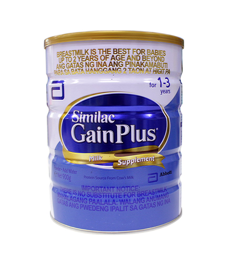 Similac Gain Plus Milk Supplement 1-3 years old 900g