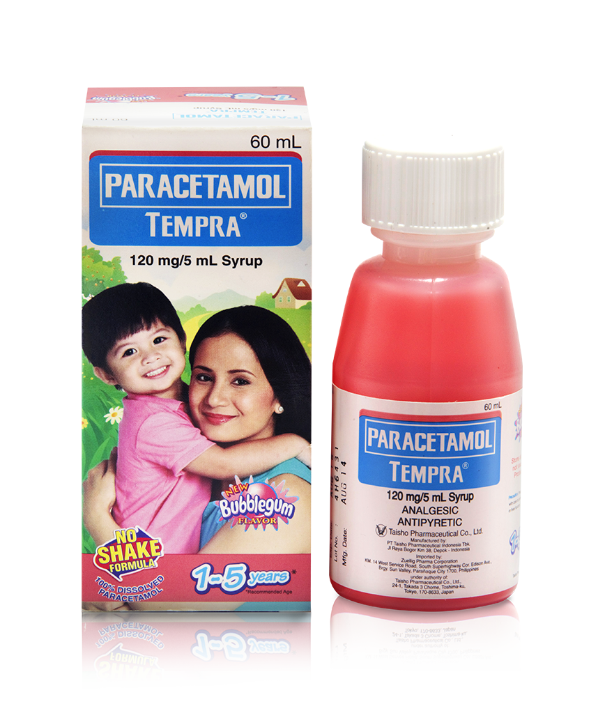 Paracetamol Syrup For Babies: Tempra 120Mg/5Ml Syrup Bubblegum 60Ml