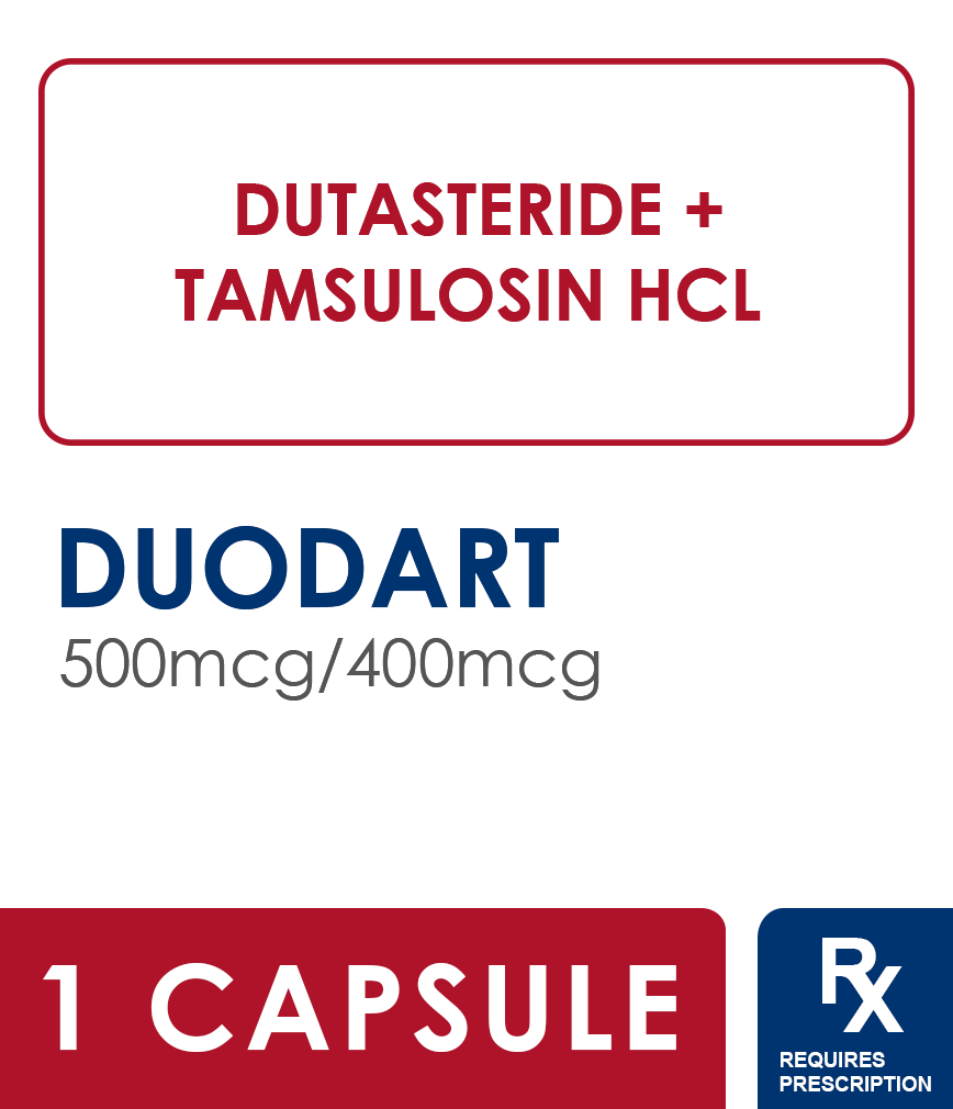 Duodart 500mcg 400mcg Capsule Rose Pharmacy