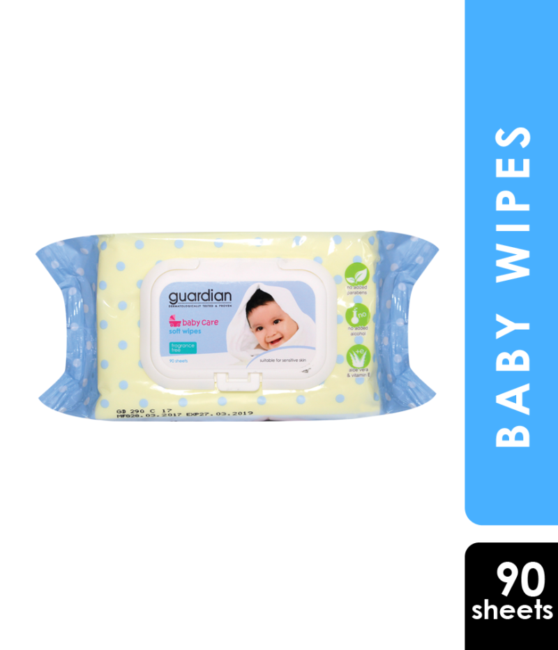GUARDIAN BABY WIPES FRAGRANCE FREE