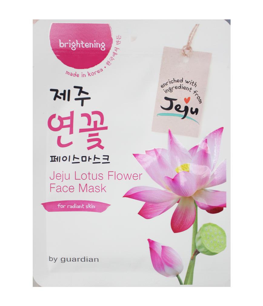 Guardian Jeju Lotus Flower Face Mask 1s Rose Pharmacy