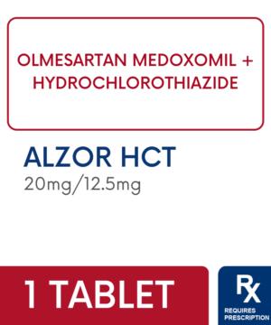 ALZOR HCT 20MG/12.5MG TABLET